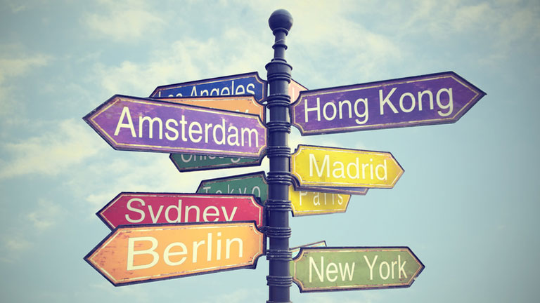 Wegweiser Städte weltweit