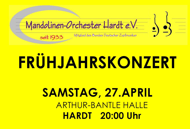 Mandolinen Orchester Frühjahrskonzert 2019