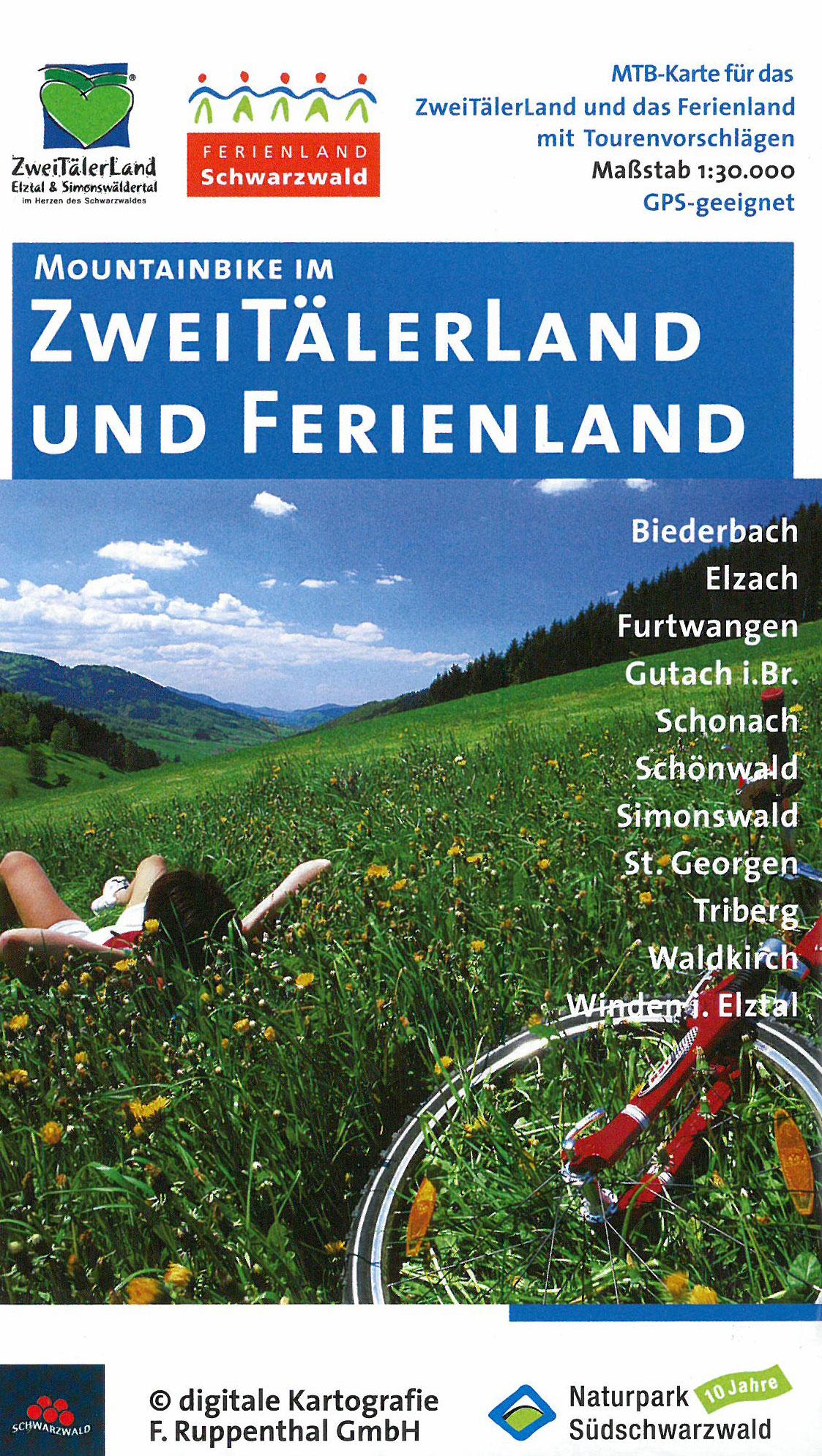 Mountainbikekarte Ferienland Schwarzwald